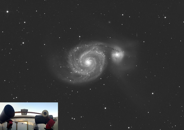 La galassia M51 vista dal Virtual Telescope (fonte: Gianluca Masi, Virtual Telescope Poject) © Ansa