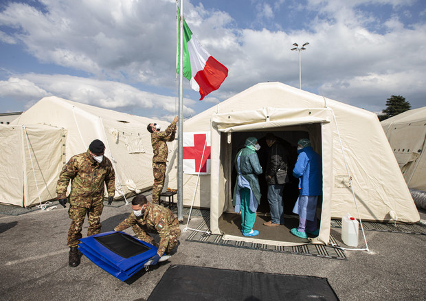 Coronavirus: field hospital in Crema © ANSA