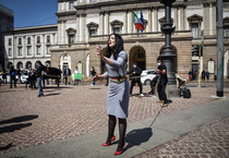 Flash mob of Teatro alla Scala workers (ANSA)