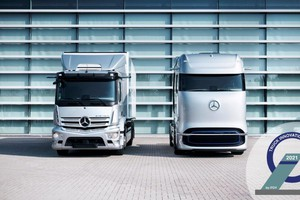 Mercedes, Truck Innovation Award 2021 a eActros e GenH2 (ANSA)
